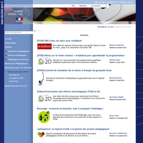 Ac-orleans : Ressources pour STI2D