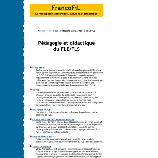 FRANCIFIL : ressources pour professeurs de Français