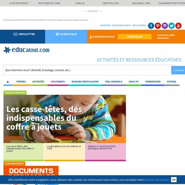 Educatout.com des milliers d'activités pour enfants et ressources professionnelles. - Educatout.com