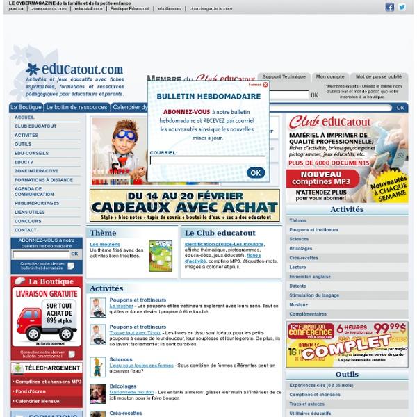 Des milliers d'activités pour enfants et ressources professionnelles. - Educatout.com
