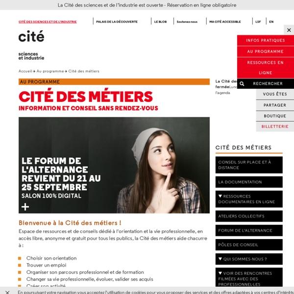 Cité des métiers-Lieux ressources-Orientation...