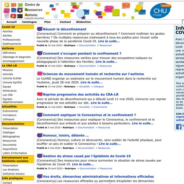 Centre de Ressources Autisme Languedoc Roussillon - CRA-LR Montpellier
