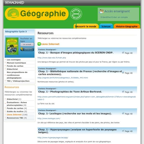 Site ressources enseignants