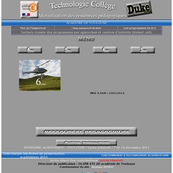 RESSOURCES TECHNOLOGIE TOULOUSE