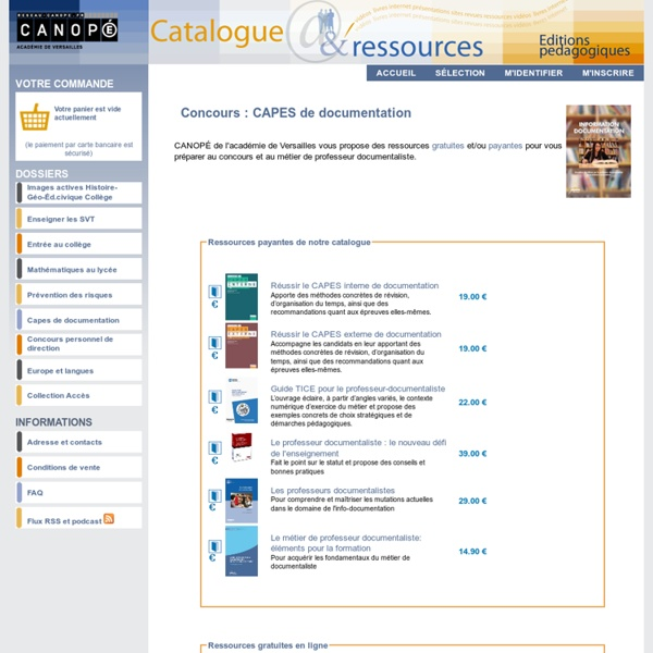 Catalogue et ressources en ligne du CRDP de l'académie de Versailles