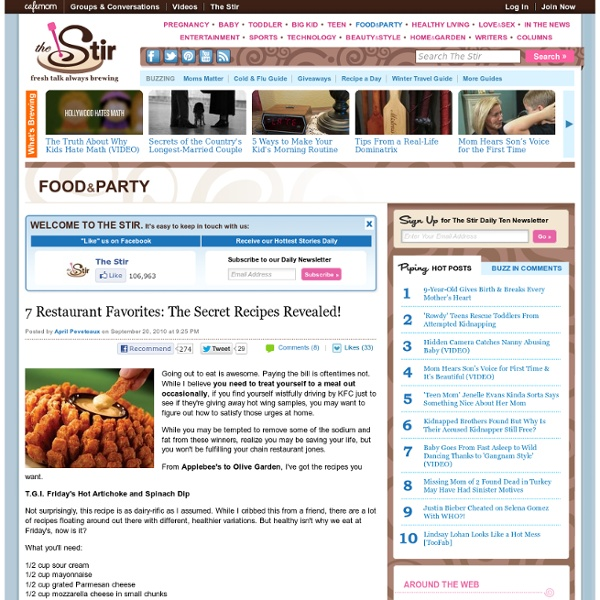 7 Restaurant Favorites: The Secret Recipes Revealed!