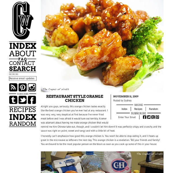 Restaurant Style Orange Chicken