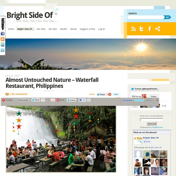 Almost Untouched Nature - Waterfall Restaurant, Philippines