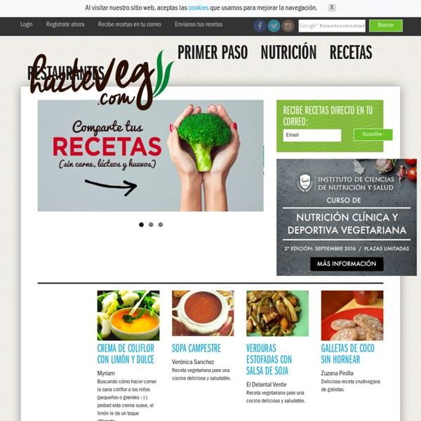 HazteVegetariano.com - nutrición vegetariana, recetas y restaurantes para vegetarianos