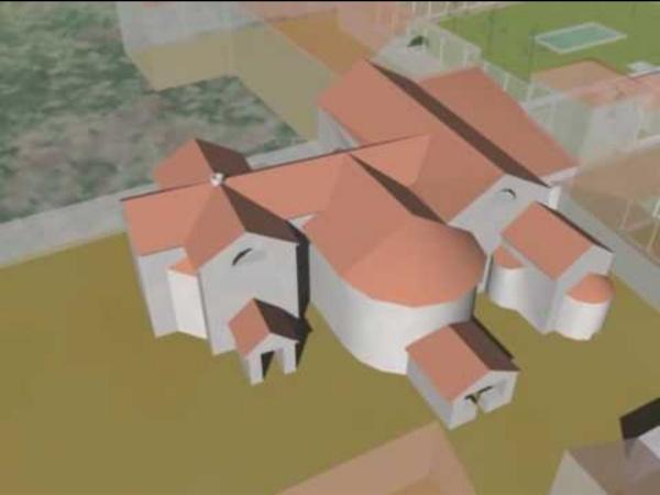 Restitution 3D de la Villa Gallo-romaine d'Andilly en Bassigny.