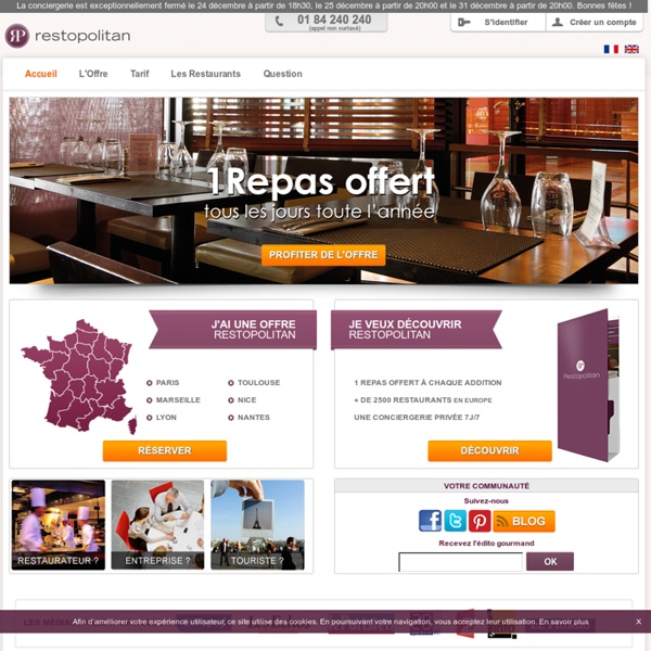 Restaurant Paris, Réservation de Restaurants France, RESTOPOLITA