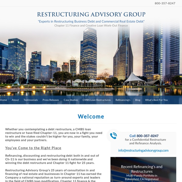 Restructuring Advisory Group, CMBS Restructuring Expert