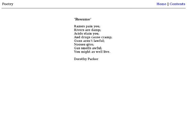 'Resume' - Dorothy Parker. '