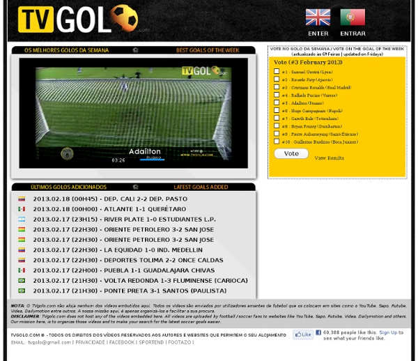 TVGOLO - Golos e resumos de futebol em video | Latest football goals and soccer video highlights