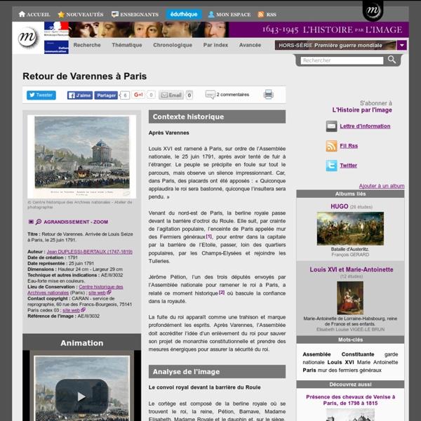 Retour de Varennes à Paris
