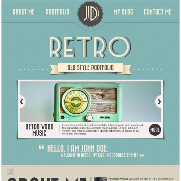 Retro Portfolio - One Page Vintage Wordpress Theme Preview