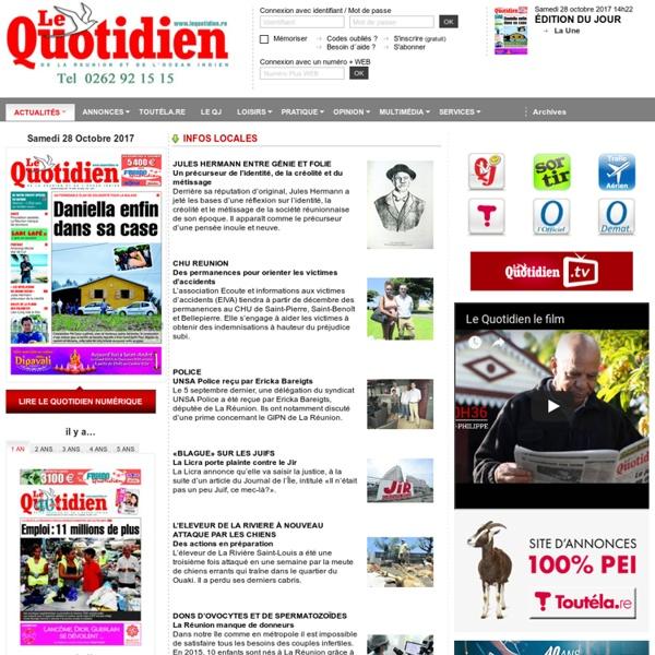 Le Quotidien de la Réunion, votre journal réunionnais d'actualités et d'informations de l'île de la Réunion (974).