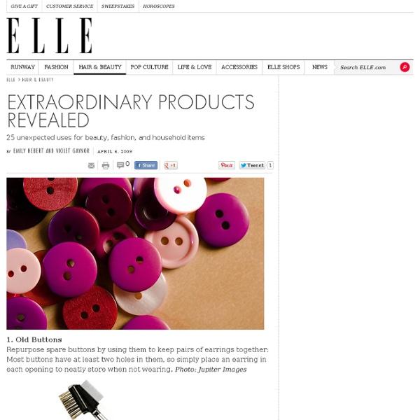 25 Beauty Tips Reusing Household Items – Homemade Beauty Tips on ELLE
