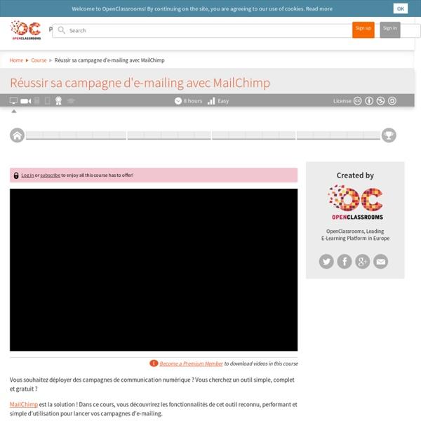 Réussir sa campagne d'e-mailing avec MailChimp