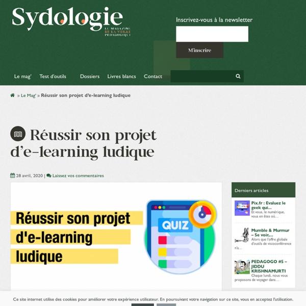 Réussir son projet d'e-learning ludique