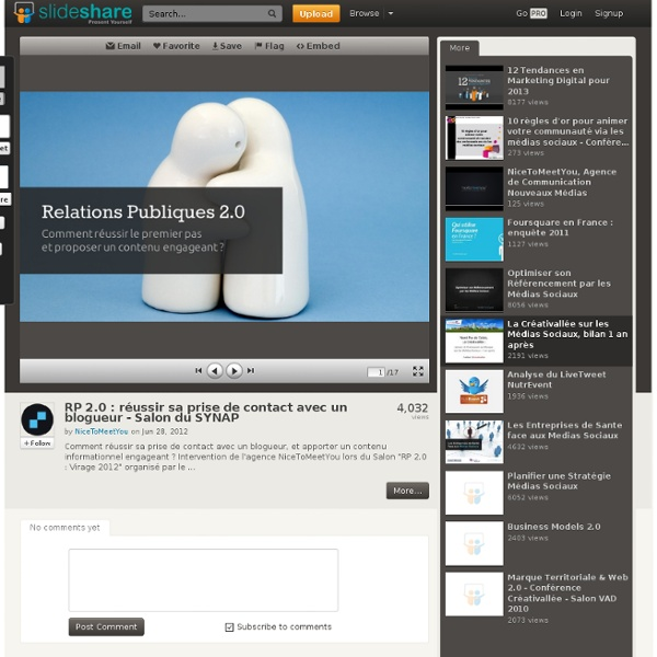 RP 2.0 : réussir sa prise de contact avec un blogueur - Salon du SYNAP