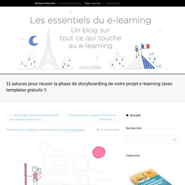 Réussir la phase de storyboarding de votre projet e-learning