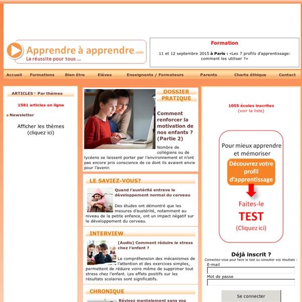 Réussite scolaire et méthode pour apprendre [ Apprendre à Apprendre.com]