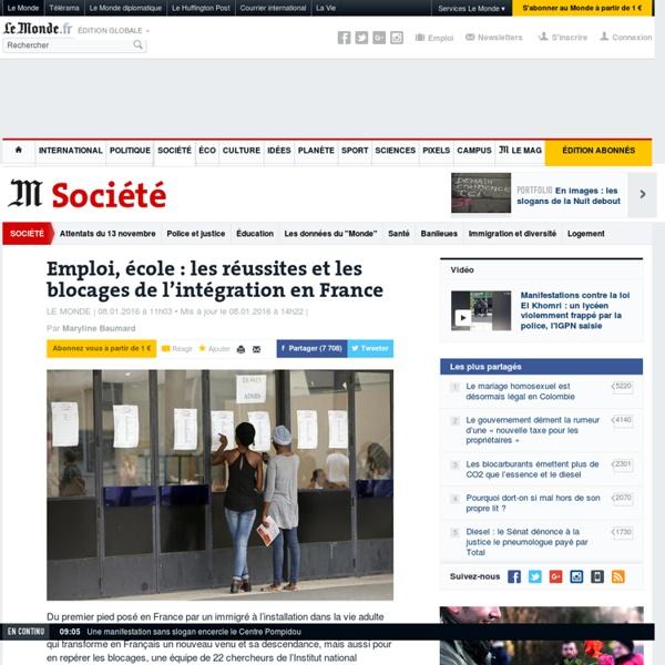 Emploi, école : les réussites et les blocages de l'intégration en France