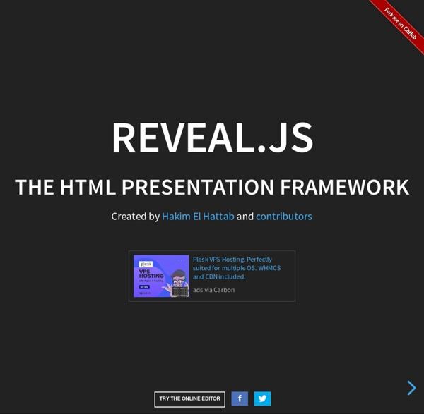 Reveal.js - The HTML Presentation Framework