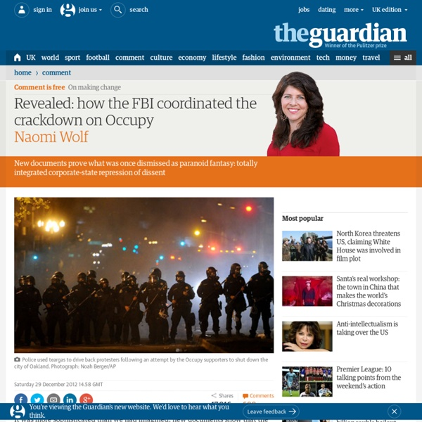 Revealed: how the FBI coordinated the crackdown on Occupy