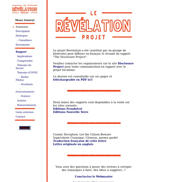 REVELATION - Sommaire