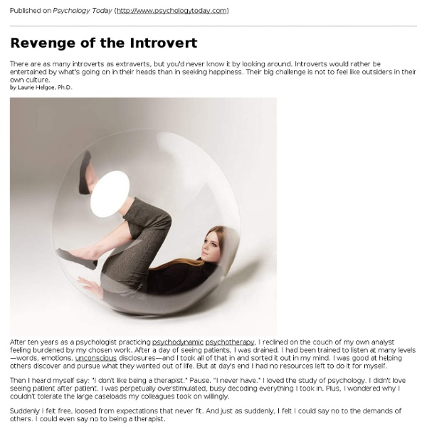 Revenge of the Introvert