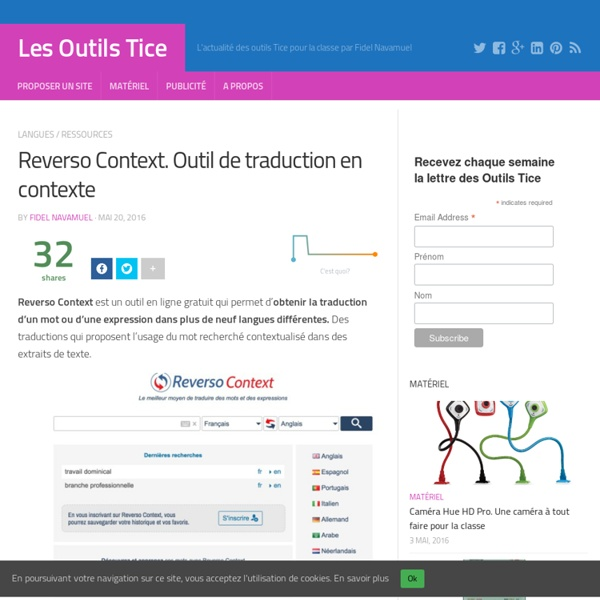 Reverso Context. Outil de traduction en contexte