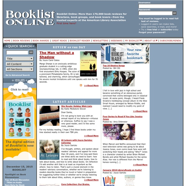 Book Review Site for Librarians in Public Libraries and School Libraries
