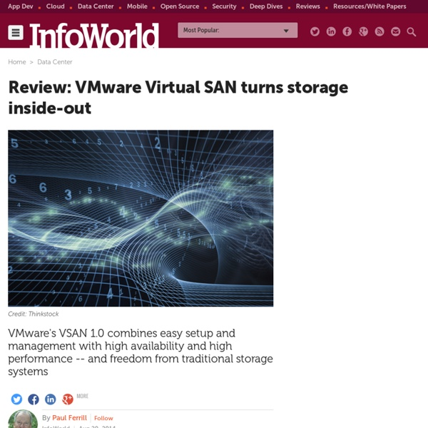 Review: VMware Virtual SAN turns storage inside-out