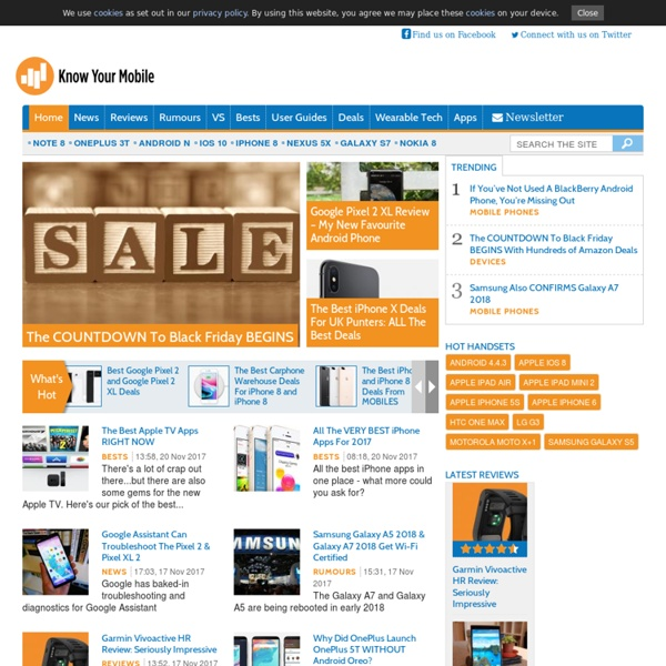 Know Your Mobile - mobile phone news, reviews, user guides, themes and prices
