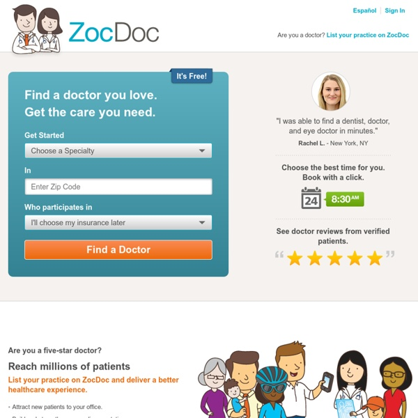 Find a Doctor – Doctor Reviews & Ratings