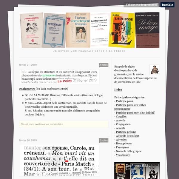 Je révise mon français grâce à la presse