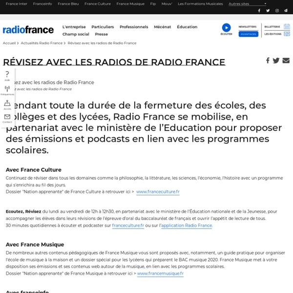 Révisez avec les radios de Radio France