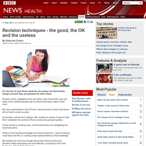Revision techniques - the good, the OK and the useless