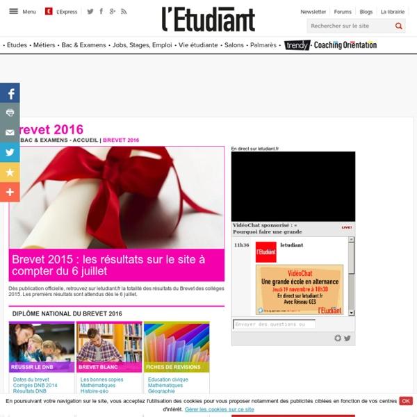 Annales corrigées. L'Etudiant.fr