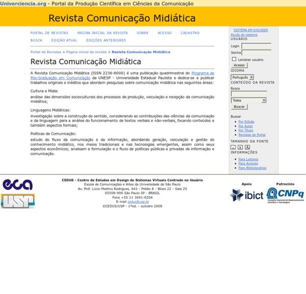 Revista Comunicação Midiática