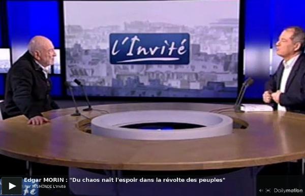 "Edgar MORIN : ""Du chaos naît l'espoir dans la révolte des peuples"" - Vidéo Dailymotion#from=playrelon-7#from=playrelon-7"