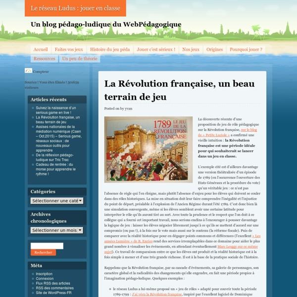 La Révolution française, un beau terrain de jeu