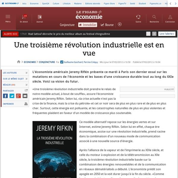 Une troisième révolution industrielle est en vue