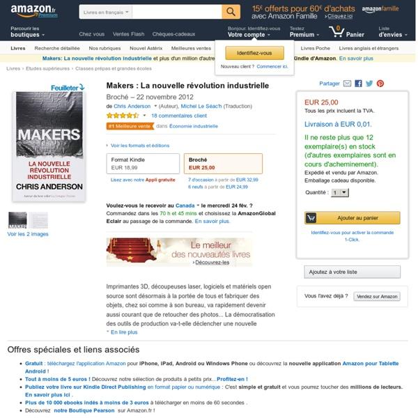 Makers : La nouvelle révolution industrielle: Amazon.fr: Chris Anderson