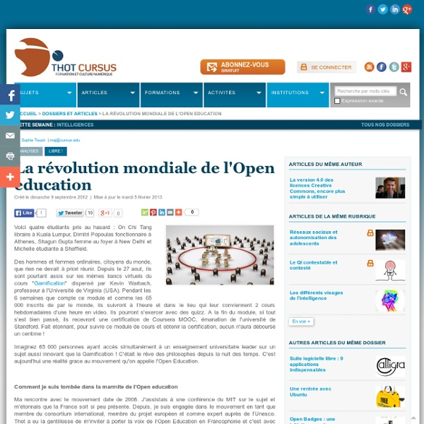 La révolution mondiale de l'Open education