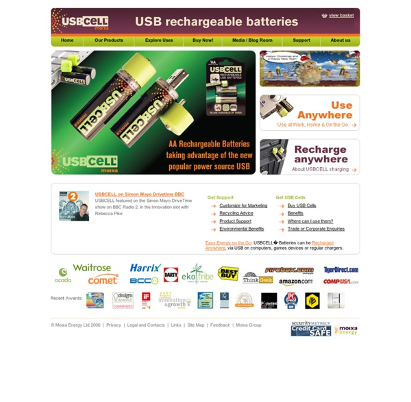 Usbcell - revolutionary rechargeable usb battery that can charge from any USB port