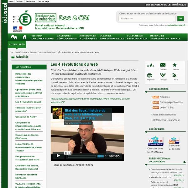 Les 4 révolutions du web — Documentation (CDI)