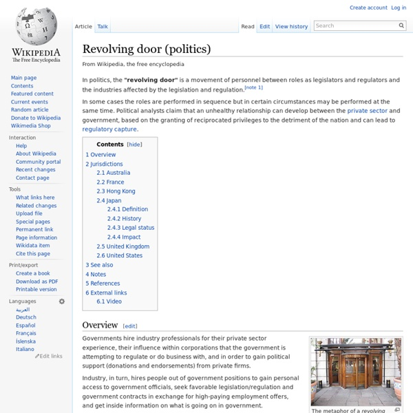 Revolving door (politics)